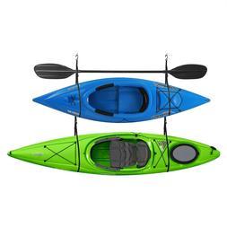 Double Kayak Storage Strap Garage Canoe Hoists 100 lb Capaci