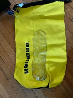 KASTKING DRY BAG yellow 30 l w TAGS - HIKE CAMP FISH KAYAK C