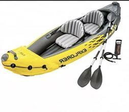 Intex Explorer K2 2 Person Inflatable Kayak Set and Air Pump