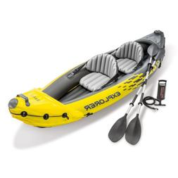 Intex Explorer K2 Inflatable Kayak Tandem Boat with Oars and