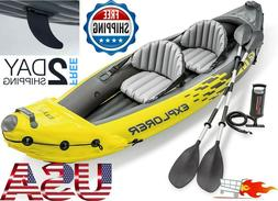 ? Explorer K2 Kayak sporty fun, 2 Person Inflatable Set with