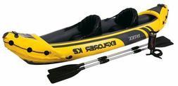Fishing Kayak 2 Person Boat Plastic Raft Lake Floats Inflati