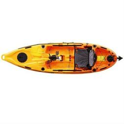 Fishing Kayak and Pedal Drive 10'ft Y/Orange Pedal Kayak Pro