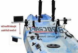 fishing kayak trolling motor mount universal + two rocket la