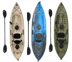 Fishing Kayak w/Paddle 10 Ft Lifetime Tamarack Angler 100, M