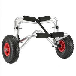 Foldable Kayak Trolley Two-wheeled Carrier Cart for Kayak Ca
