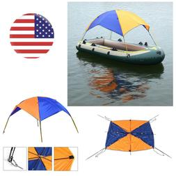 Foldable Sun Shade Canopy Awning Inflatable Kayak Boat Rain