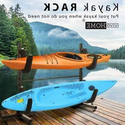 VIVOHOME Freestanding Kayak Rack Canoe Surfboard Snowboard C