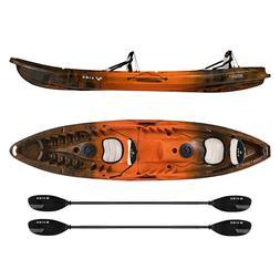 Vibe Skipjack 120T 12' Two Person Fishing Rec Kayak   2 Padd