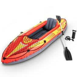 Goplus 1-Person Inflatable Canoe Boat Kayak Set With Oar And