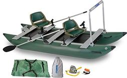 Sea Eagle Green 375fc Inflatable FoldCat Fishing Boat - Pro