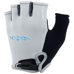NRS Women's Half-Finger Kayak Gloves-Light Gray-L
