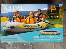 Intex Inflatable Explorer Pro 400 Four-Person Boat with Oars