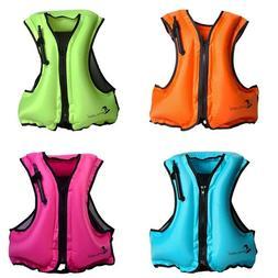 Inflatable Snorkel Vest Life Jacket Kayak Buoyancy Aid Vest