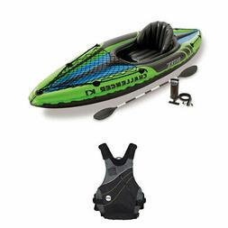 Intex Inflatable Sporty Kayak Set & NRS Vapor Adult L/XL PFD