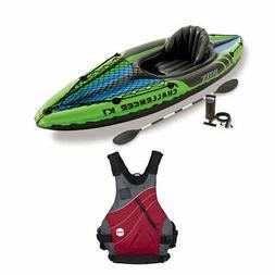Intex Inflatable Sporty Kayak Set & Vapor Adult S/M Kayak Li