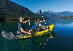 Intex 68307EP Explorer K2 2 Person Inflatable Kayak Set and