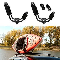 ABN J-Rack, Roof Top Mounted Kayak Carrier for Vehicle, Weat