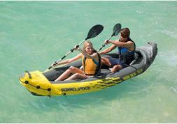 Intex K2 Kayak Inflatable 2 Person Explorer with Aluminum Oa