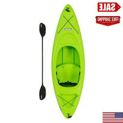 kayak 8ft boat with paddle green lightweight