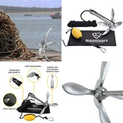 FISHINGSIR Kayak Anchor Accessories 3.3lb Galvanized Iron Fo