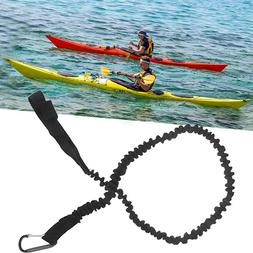 Kayak Canoe Paddle Rod Leash Safety Rope Carabiner Rowing Bo
