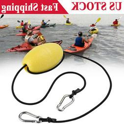 Kayak Drift Anchor Tow Nylon Rope Line EVA Buoy Steel Clips