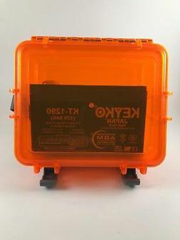 Kayak Fish Finder Battery,12 Volt 9AH AGM, Waterproof Dry Ca