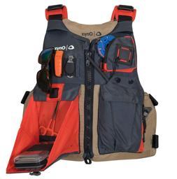 kayak fishing life jacket tan oversize