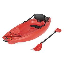 Best Choice Products 6' Kids Kayak With Paddle And Backrest-