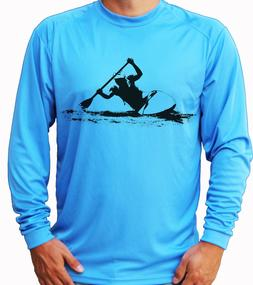 Kayak Kayaker Long Sleeve UPF 30 T-Shirt Sport Boat Beach UV