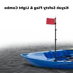 Kayak LED Light Pole Flag Canoe Fishing Rubber Dinghy Boat S