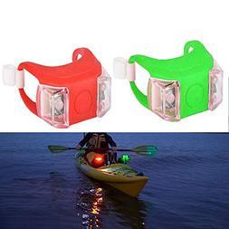 SUNNIER 2 Pack Kayak Navigation Lights , Boat Bow Stern Safe