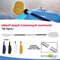 Oceansouth Kayak Paddle White Aluminum Asymmetric