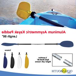 KAYAK PADDLES BLUE, ALUMINUM ASYMMETRIC  x 2