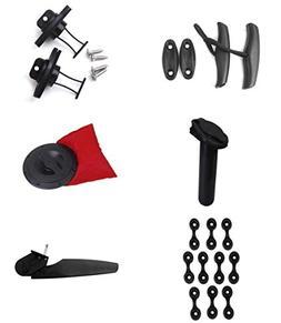 Kayak Tool Set Nylon Boat Rudder + Deck Loops + Plate + Drai