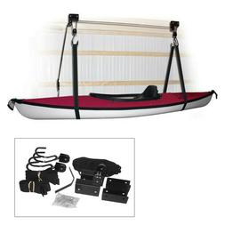kayak storage strap garage canoe hoists 120