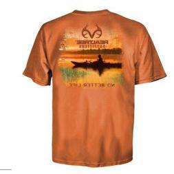 kayak sunset t shirt mens orange 500