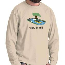 Life is Crap Kayak Waterfall Funny Shirt Gift Idea Cute Cool