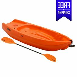 Kayak wave with Paddle for Youth 6 ft - Orange