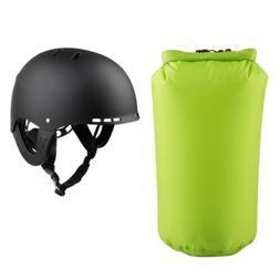 Kayaking Canoe Rafting Helmet Safety Equip Head Cap + 8L Wat