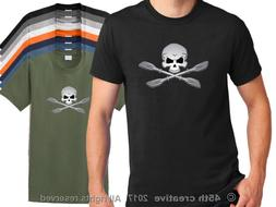 Kayaking T Shirt - kayaker skull t-shirt kayak paddle shirt