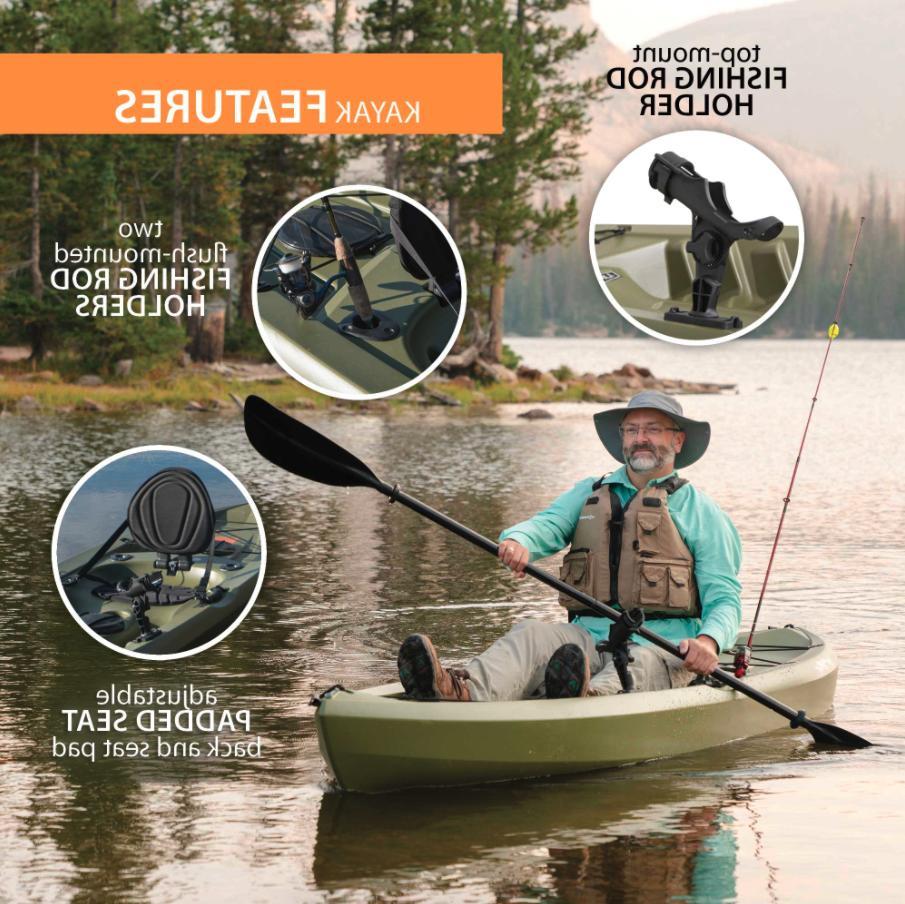 Lifetime Tamarack Kayak, On Fishing w/ Olive