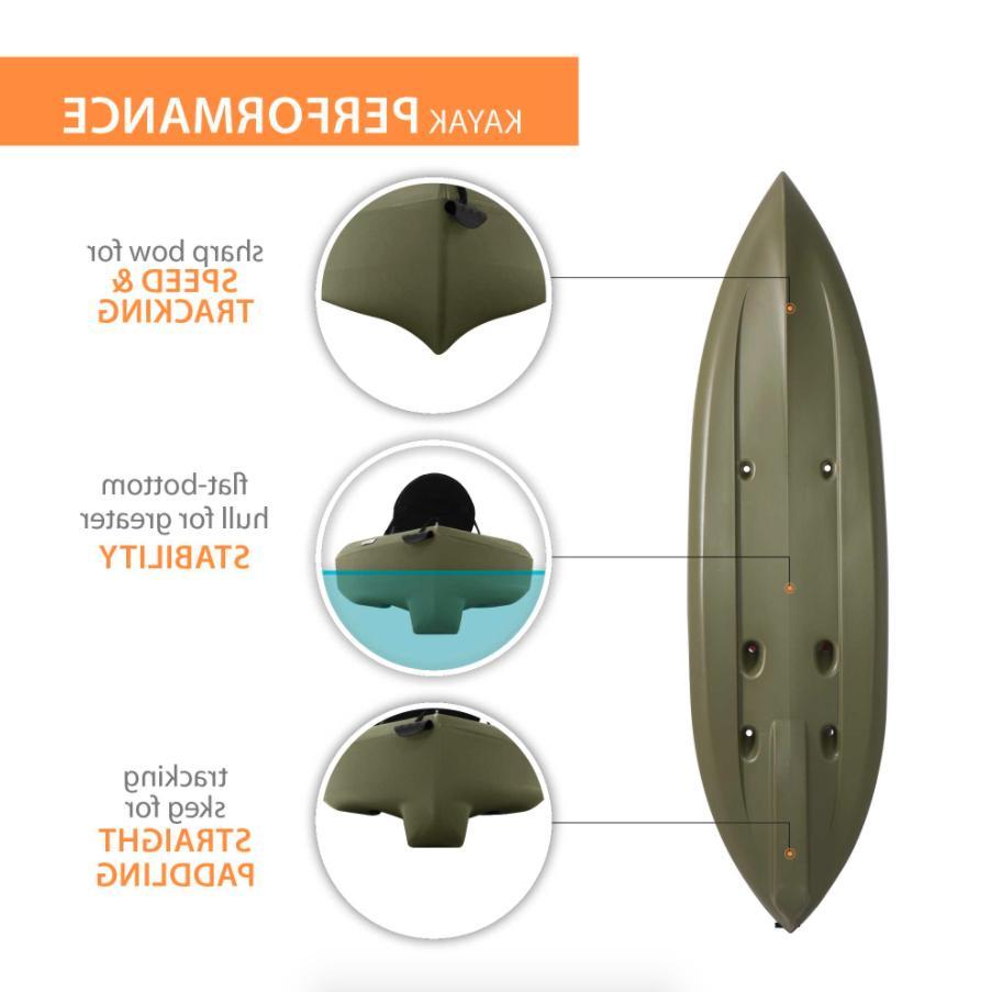 Lifetime Tamarack Angler Kayak, Sit Fishing w/ Paddle Olive