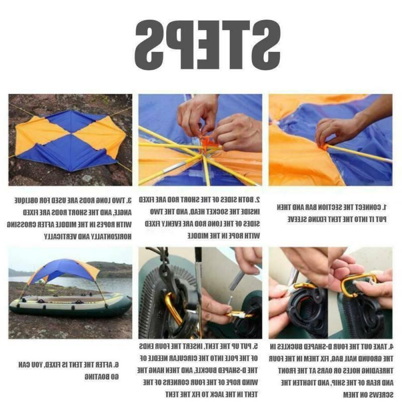 2/3/4 Sun Shade Kayak Anti UV Tent