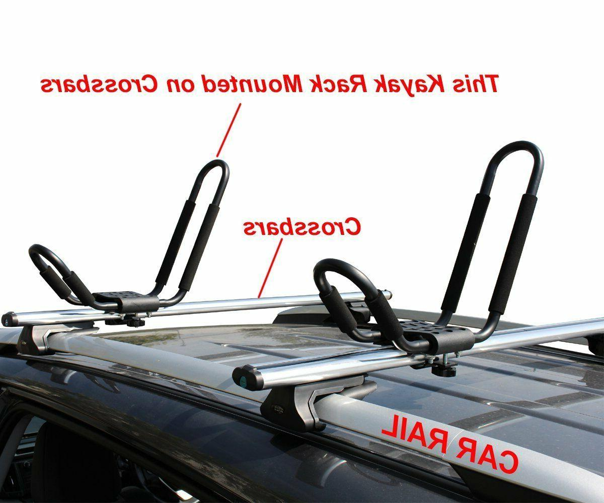 2 Kayak SUV Canoe Ski Snowboard Roof J-Bar Rack