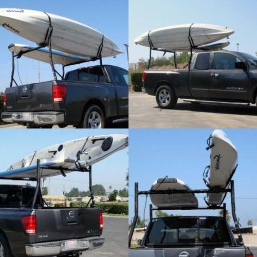 2 Pairs Kayak Carrier Boat Ski Surf Roof J-Bar Rack