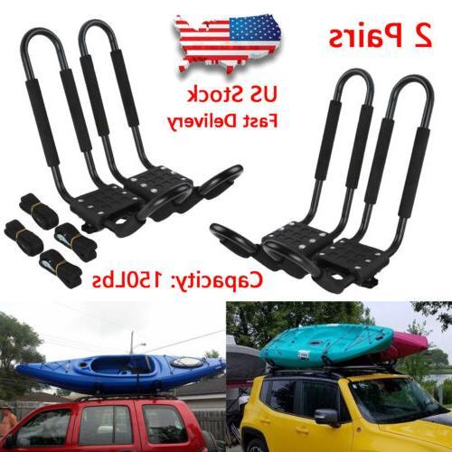 2 pairs universal roof j bar rack