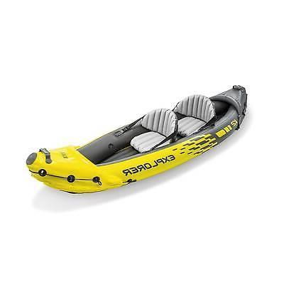 Intex K2 Kayak 2-Person Set Oars and Yellow