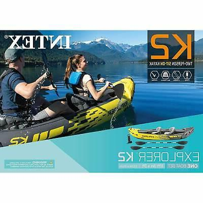 Intex Kayak 2-Person Oars Yellow